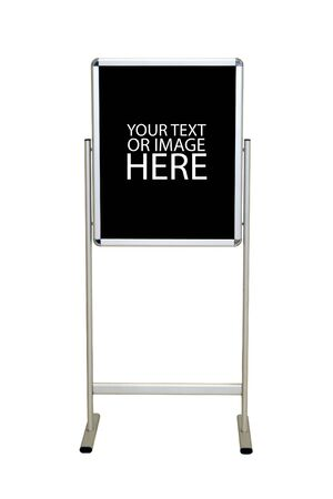 A blank easel stand sign.  Customize this with your message - includes clipping path. photo