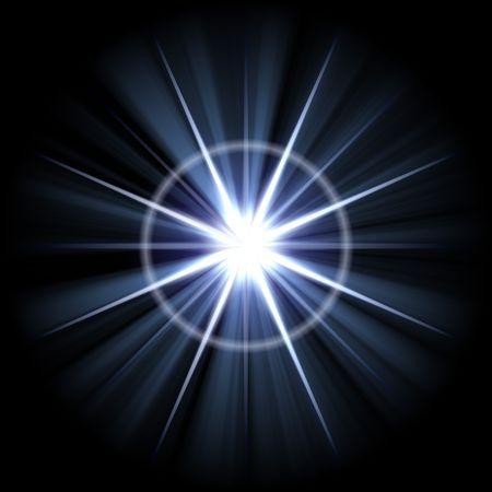 lens flare: Un obiettivo astratto fiammata. Molto luminoso scoppio - grandi opere come uno sfondo.