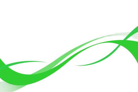 Flowing green curves layout with plenty of copy space. photo