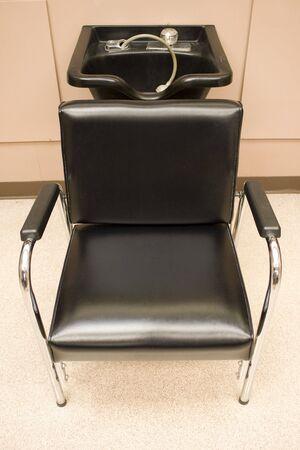 Hair Salon - a hair washing sink and chair. Stock Photo - 3256978