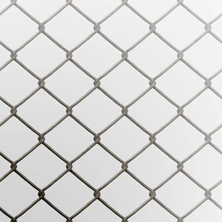 A 3D chain link fence texture that tiles seamlessly as a pattern.