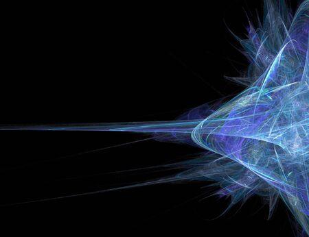 偉大なハイテク アート要素または任意のデザイン プロジェクトの背景は、抽象的な青フラクタル アートワーク。