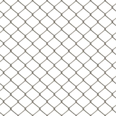 A 3D chain link fence texture that tiles seamlessly as a pattern in any direction. Stock Photo - 3306454