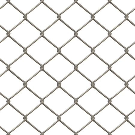 A 3D chain link fence texture that tiles seamlessly as a pattern in any direction.