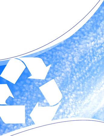 environmentalism: A background layout themed around recycling and environmentalism. Stock Photo