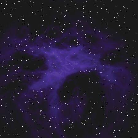 A very realistic looking starfield nebula illustration. Stock Illustration - 3363430
