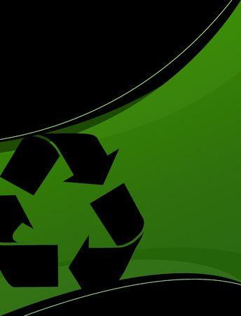 wastes: A background layout themed around recycling and environmentalism. Stock Photo