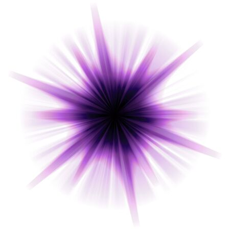 A purple star burst or lens flare over a white background.