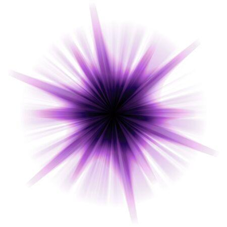 estrellas moradas: Una r�faga p�rpura estrellas o lente bengala durante un fondo blanco.