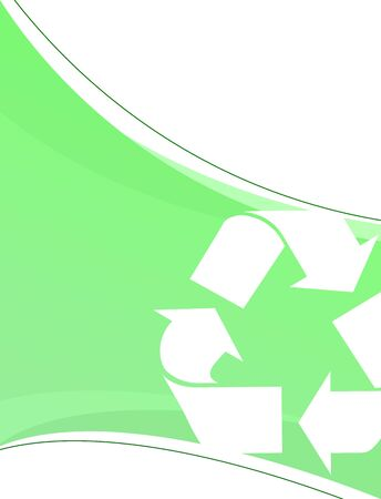 environmentalism: A background layout themed around recycling and environmentalism.  Great for going green! Stock Photo