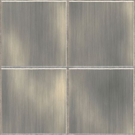 brushed: Brushed aluminum or stainless steel tiles.  This image tiles seamlessly as a pattern in any direction.