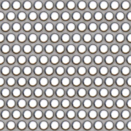 A 3d illustration of a steel grate material. This image tiles seamlessly as a pattern. Stock Illustration - 3442682