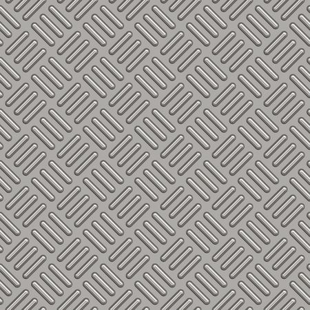 Diamond plate metal texture - a very nice background for an industrial or construction type look. Fully tileable - this tiles seamlessly as a pattern. Stock Photo