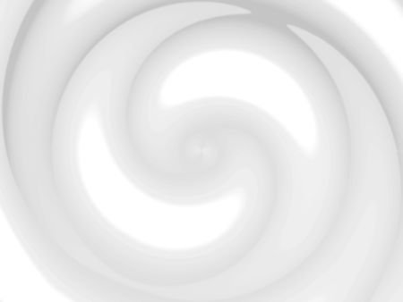 A white chocolate swirl illustration - also works as milk or cream.