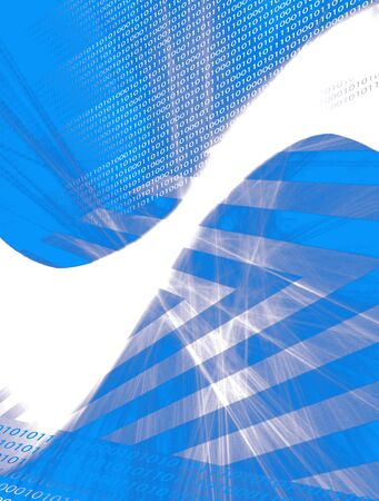 An abstract blue background with copy space and binary code - ones and zeros. Stock Photo - 3500229