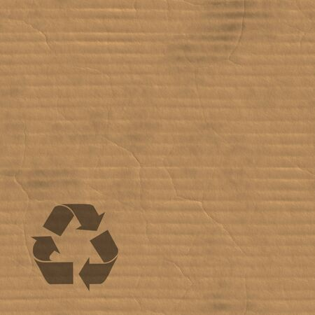 certain: A corrugated carboard texture with creases and wrinkles in certain spots. Stock Photo