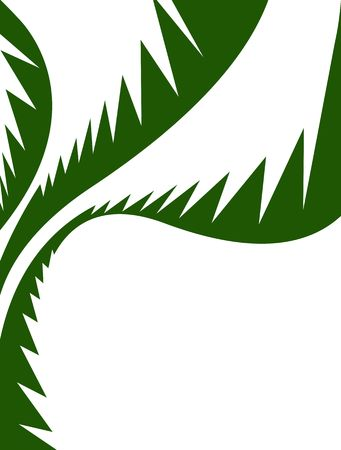 A tropical palm leaves illustration that makes a great summer background or ad layout. illustration
