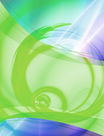 A 3D abstract layout you can use as a template for any design piece.  Stock Photo - 3511534
