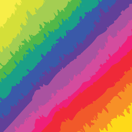 A rainbow colored pattern with rough brush marks. Vector