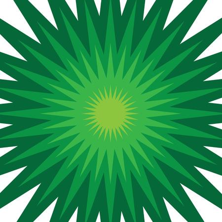A green starburst illustration that radiates from the center. Ilustração