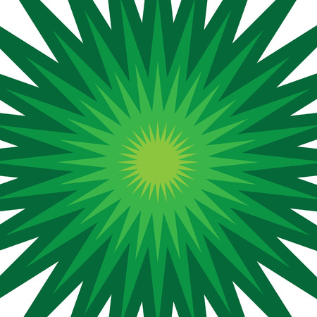 A green starburst illustration that radiates from the center. Vector