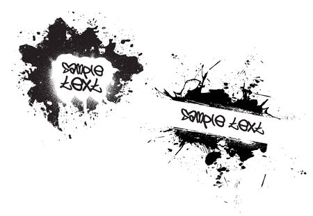 fully: A few different grunge splatter frames - fully customizable.  Insert your own text or images. Illustration
