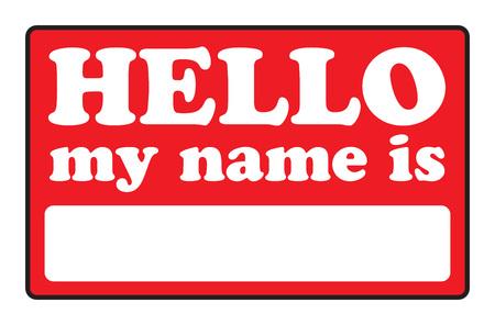 Lege naam lab els die Hallo mijn naam IS zeggen.