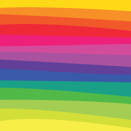 A rainbow colored pattern with horizontally flowing lines. Vector