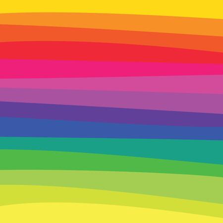 Een regenboog gekleurde patroon met horizontaal vloeiende lijnen.