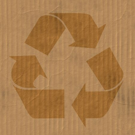A corrugated cardboard texture with creases and wrinkles in certain spots. photo