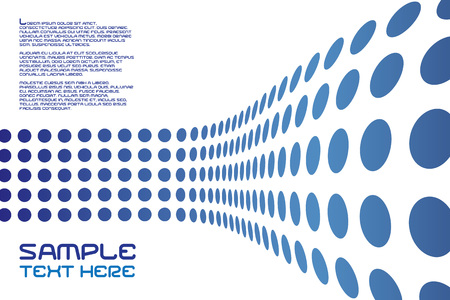 An abstract design template with sample text - this vector is fully customizable. Stock Vector - 3594295