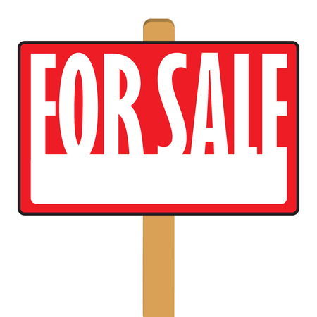 satılık: A for sale sign with copy space in vector format.