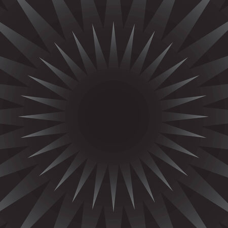 A black and silver starburst illustration that radiates from the center in vector format. Vector