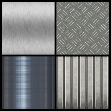A collection of modern metal textures - most tile seamlessly as a pattern in any direction. Larger versions of each are also available in my portfolio. Stock Photo - 3612384