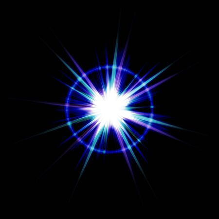 An abstract lens flare. Very bright burst - works great as a background. Stock Photo - 3644111
