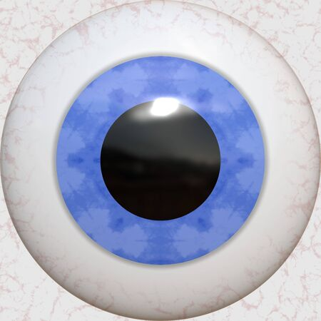 A 3 dimensional blue eye texture with reflections.   Stock Photo