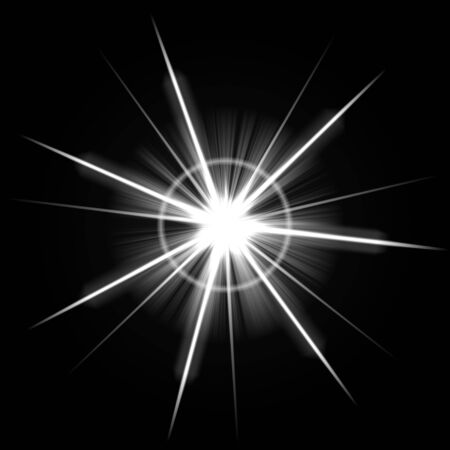 An abstract lens flare. Very bright burst - works great as a background. Stock Photo - 3644128