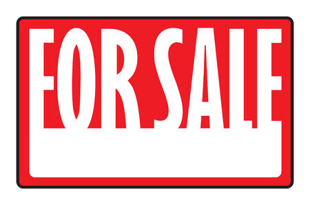 A for sale sign with copy space in vector format.
