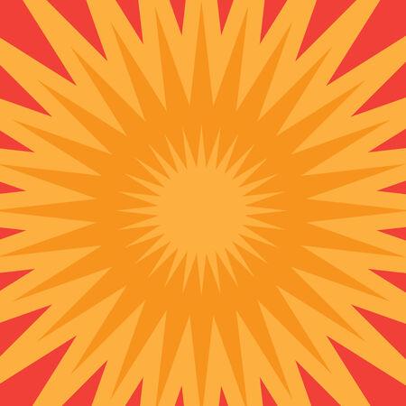 An orange starburst illustration that radiates from the center. Ilustração