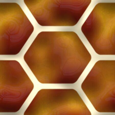 Un patrón de color marrón sin fisuras con hexágono o formas de nido de abeja. Foto de archivo - 3728837