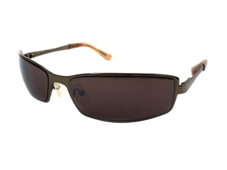 Some brown unisex sunglasses isolated over white.
