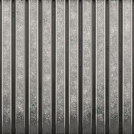 steel industry: Some corrugated metal  building material with vertical ridges - a great background texture. Stock Photo