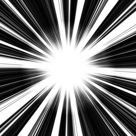 toward: An abstract vortex illustration - speeding toward a central point. Stock Photo