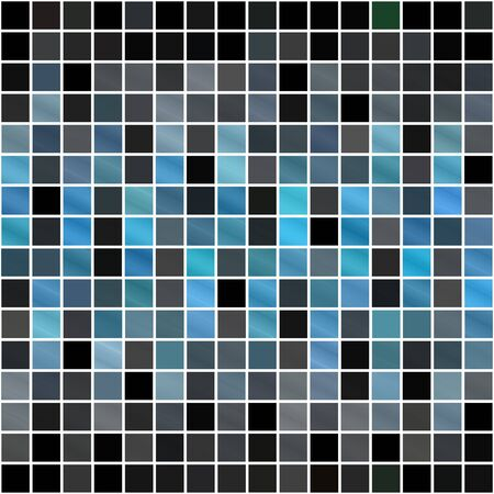 A blue tiles or pixels texture that tiles seamlessly as a pattern. photo