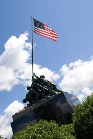 Detail of the Iwo Jima Memorial Statue located in New Britain, Connecticut.