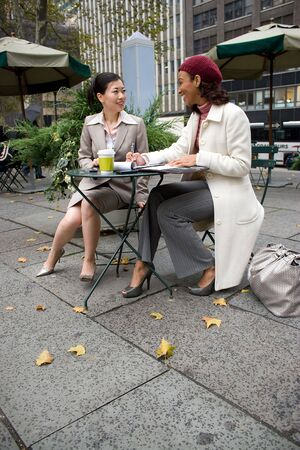 Two business women having a casual meeting in the city. Stock Photo - 3869930