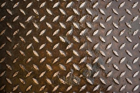 Closeup of real diamond plate material - this is a photo not an illustration. Stock Illustration - 3879693