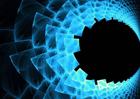 chaos: An abstract fractal vortex background with plenty of copyspace - add style to any design. Stock Photo