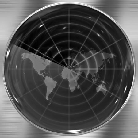 anywhere: The world map in a radar screen - blips can be added easily anywhere they are needed.