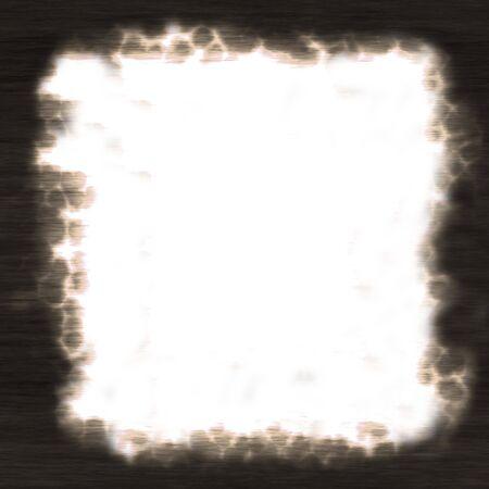 A burned paper frame - plenty of copy space. photo